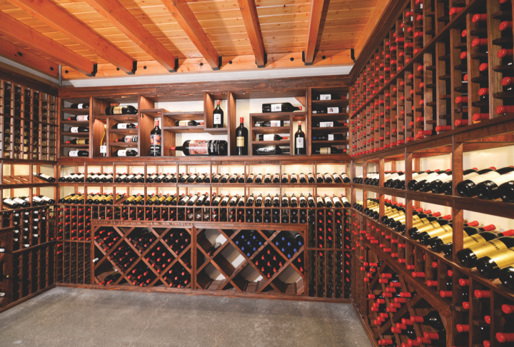 Woodward Canyon (wine room pictured) has annual production between 15,000 and 20,000 cases a year.