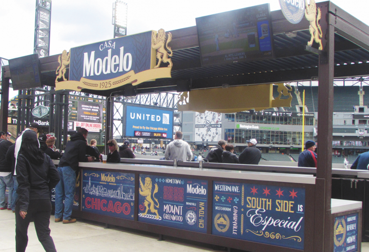 In 2017, Modelo Especial (bar at Chicago's Guaranteed Rate Field pictured) became the imported beer of the White Sox.