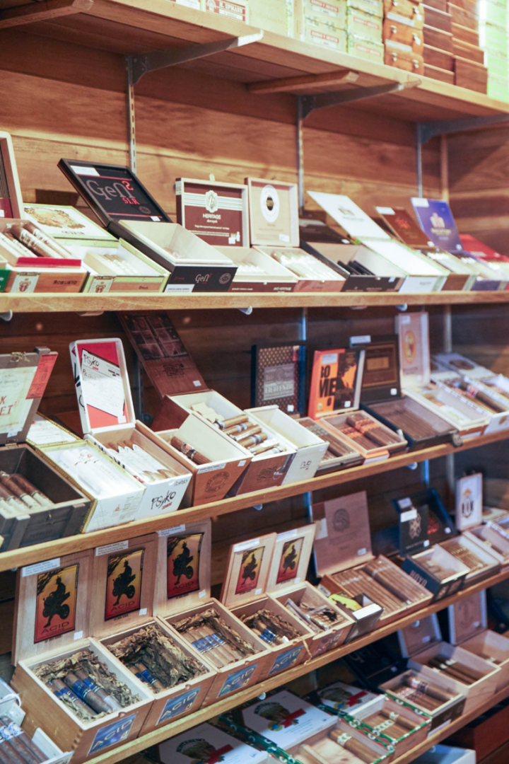 A number of Cork locations carry cigars. At the original Columbus store, a walk-in humidor houses nearly 100 premium cigar offerings.