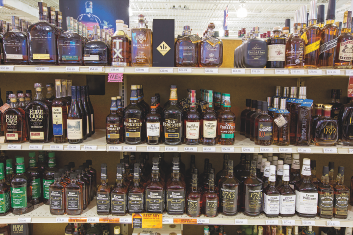 Liquor World's revenue, which totals $5 million, enables Starr to provide monetary and in-kind donations to myriad charities throughout the year without a budget in mind. Spirits account for 33 percent of sales at the store.