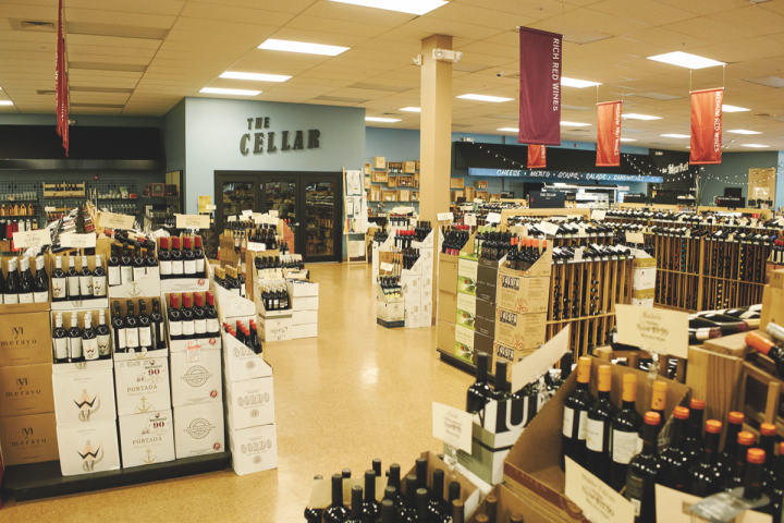 Fine wines are kept in the store's temperature-controlled wine room, The Cellar.