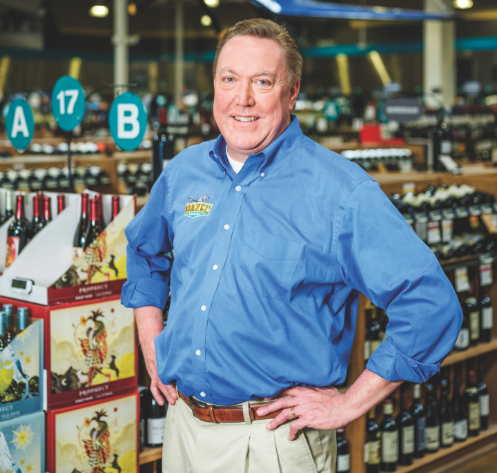 Bruce Dierking of Hazel's Beverage World offers on-demand service via the store's mobile-optimized website.