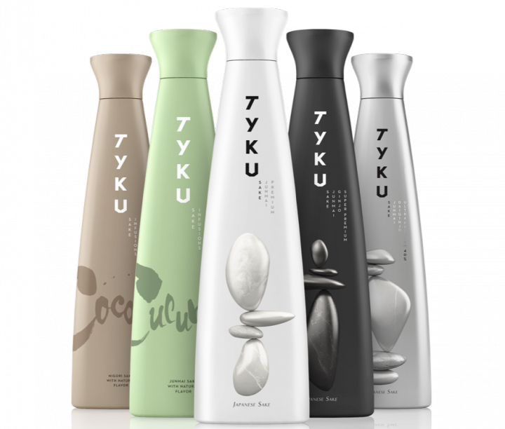 Last spring, Ty Ku sake unveiled new packaging with slimmer bottles and contemporary lettering in an effort to appeal to more consumers.