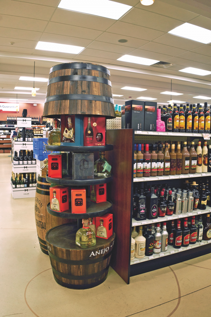Spirits account for 30 percent of total sales at Wine Chateau.