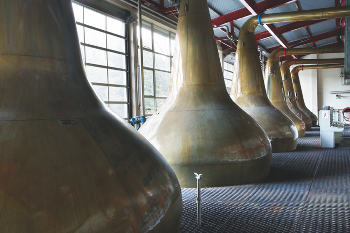 Diageo-owned The Singleton of Glendullan (stills pictured) is the company's gateway brand to single malts, priced slightly below many of its single malt peers. The drinks giant hopes the accessibly priced brand will help expand the category.