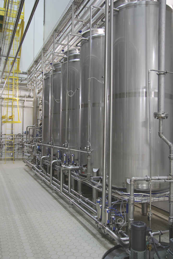 Summit has planned for growth and has a potential capacity of around 240,000 barrels a year (brew vats pictured).