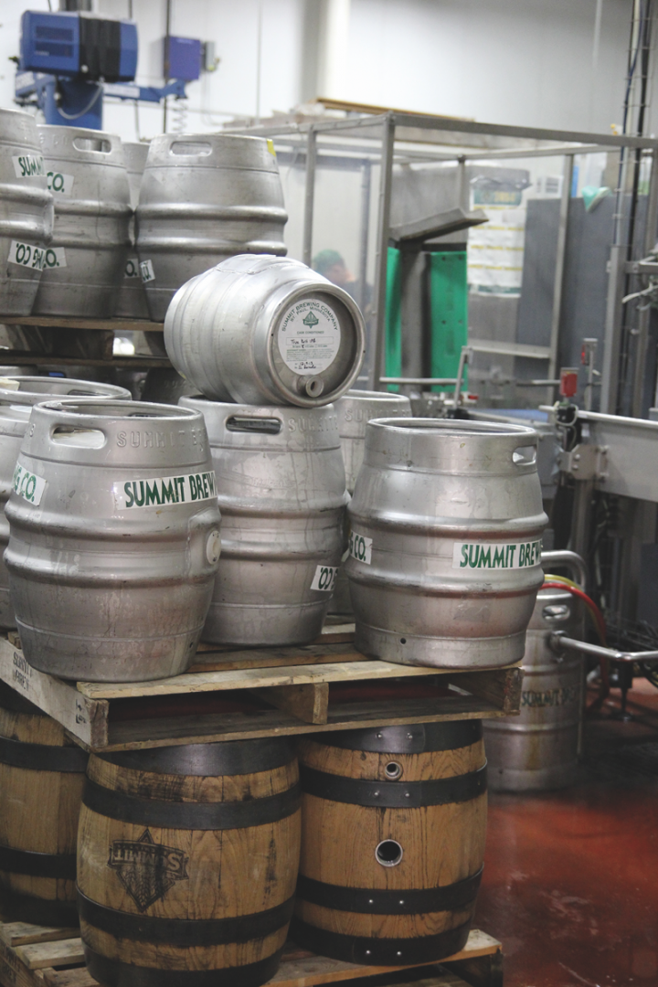The company is highly focused on the on-premise, with 40-percent of volume in draft beer (kegs pictured).