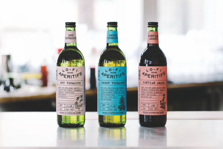 E.&J. Gallo partnered with Quaker City Mercantile to launch the wine-forward Lo-Fi Dry and Sweet vermouths (above), as well as an amaro.
