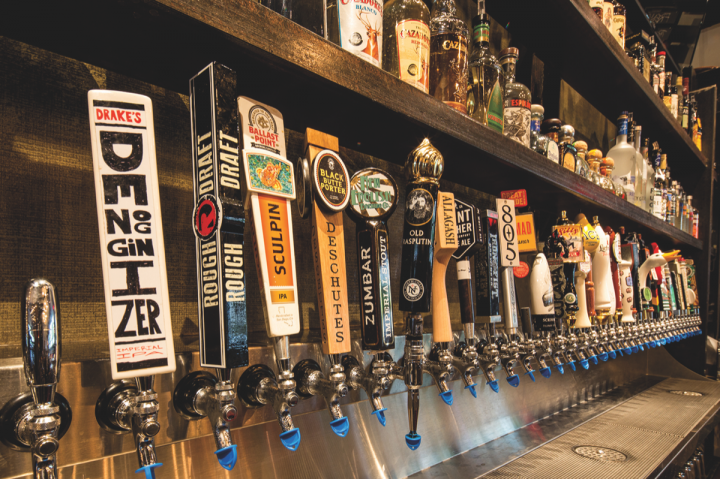 Given craft beer's popularity throughout San Diego, Cohn has recently unveiled a slew of restaurants—including Draft Republic (draft handles pictured)—that skew towards the beer scene.