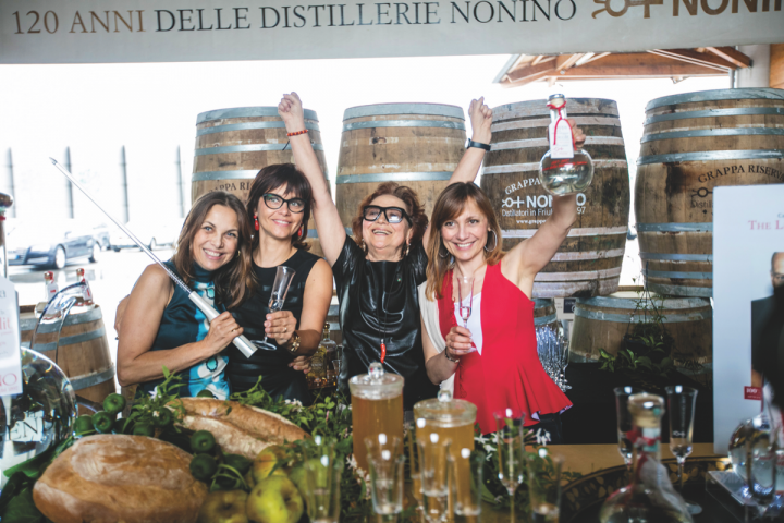 (From left): Christina Nonino, Elisabetta Nonino, matriarch Giannola Nonino and Antonella Nonino are all dedicated to educating consumers and raising grappa's international prestige.