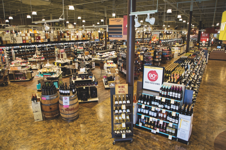 Total Wine expects revenue to reach $2.7 billion this year (McLean, Virginia, store interior above).