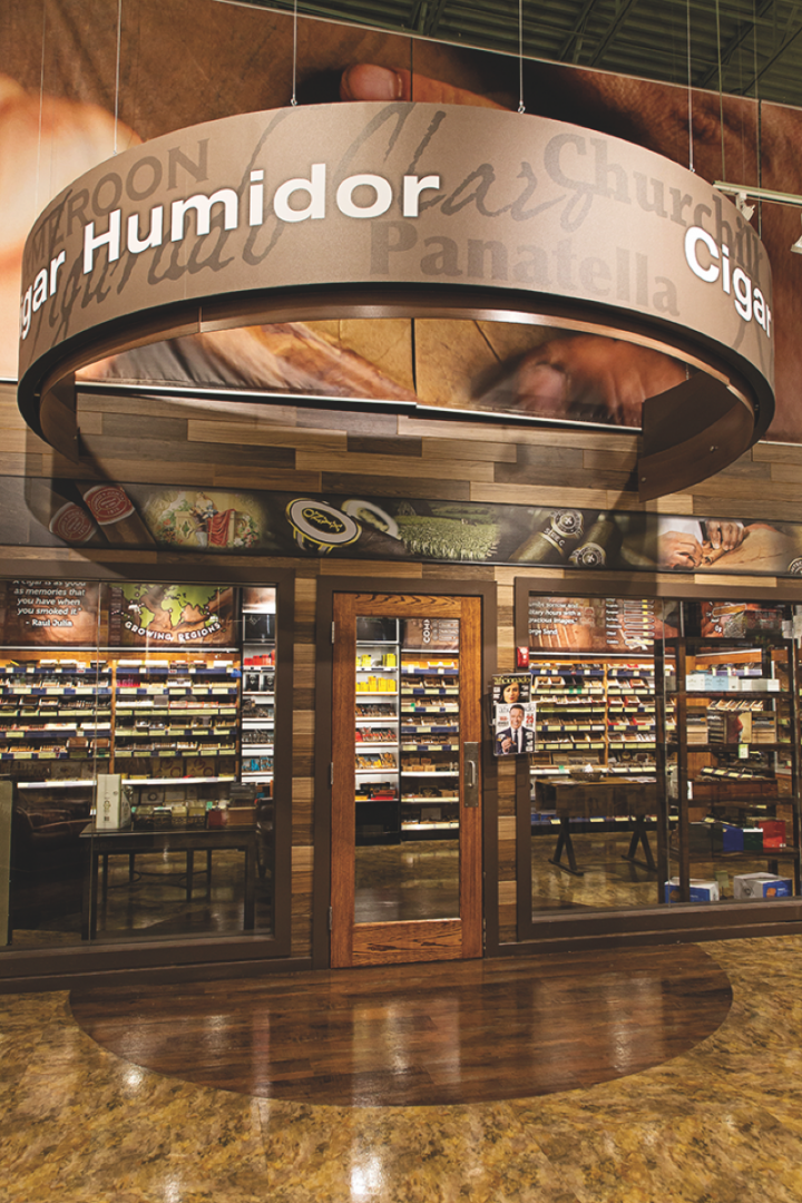 Total Wine has recently embraced the cigar business, and is betting big on it, adding walk-in humidors (pictured) to all new locations.