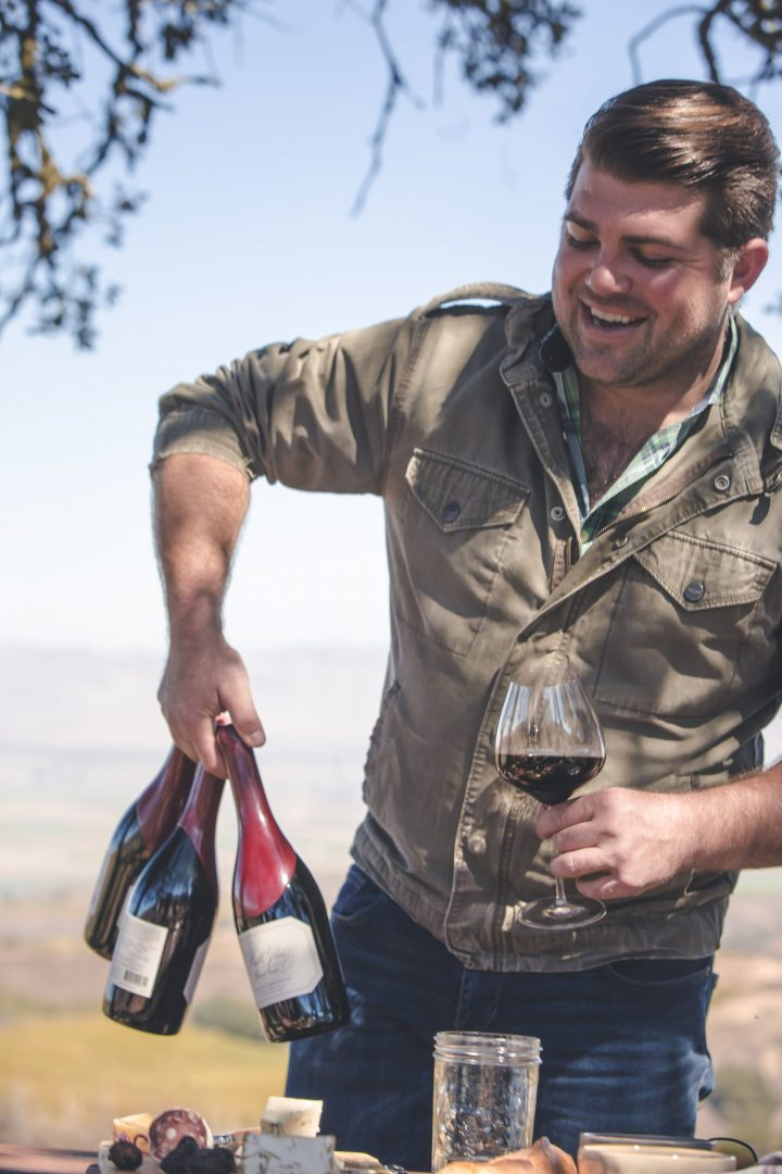 Copper Cane's vineyard-designated California Pinot Noir label, Belle Glos, has three core expressions sourced from coastal Sonoma and the Central Coast (Wagner pictured with Russian River Valley–based Belle Glos Dairyman).