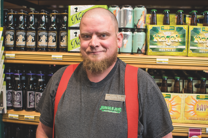 Jungle Jim's beer buyer Ferdinand Sneed sees variety as the hallmark of barrel-aged beers.