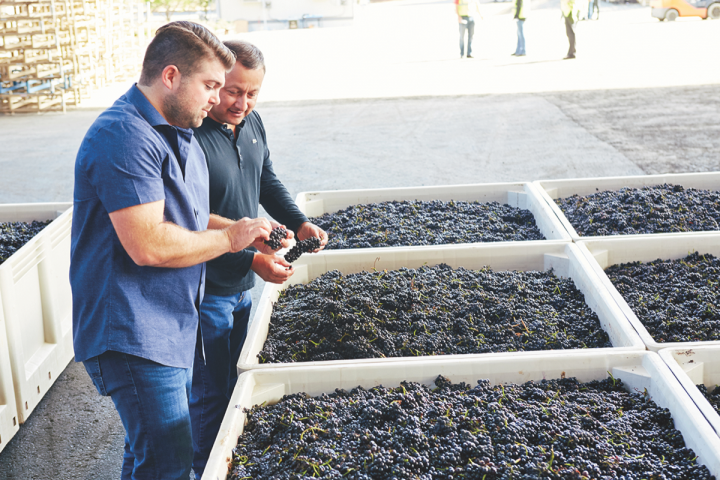 Wagner (pictured with Copper Cane director of winemaking John Lopez) sold Meiomi to Constellation for $315 million in 2015.