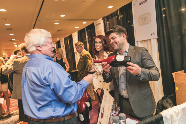 Copper Cane's California crown jewel is Belle Glos, a luxury single-vineyard Pinot Noir label (Wagner pictured pouring Belle Glos at Wine Spectator's 2015 New York Wine Experience).