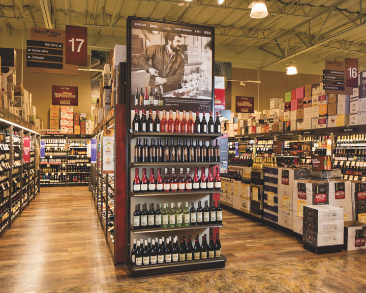 Maintaining strict pricing standards in the off-premise is an essential component of Copper Cane's strategy (Total Wine display pictured).
