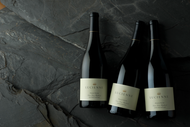 Hahn Family Wine's Lucienne collection comprises high-end, single-vineyard designated Pinot Noirs.