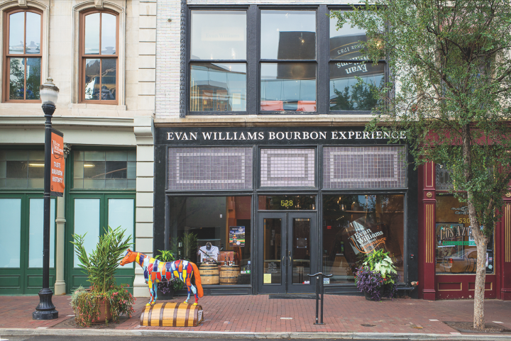 Located on Whiskey Row in downtown Louisville, the Evan Williams Bourbon Experience is part of the Kentucky Bourbon Trail. The historic building boasts an artisanal microdistillery, event space, and retail shop, and hosts nearly 100,000 visitors each year.