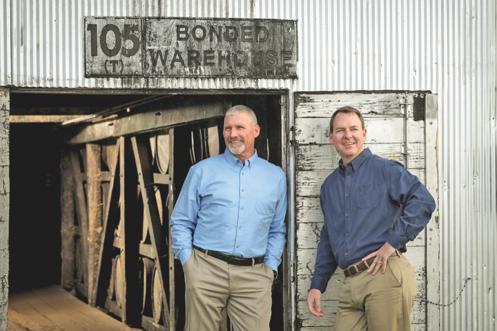 Heaven Hill's master distiller Denny Potter (pictured on the right with artisanal distiller Jodie Filiatreau) oversees all of the company's whiskies and spirits brands.