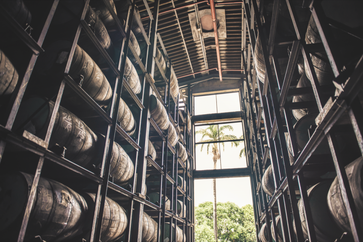 Venezuela's Diplomático (warehouse pictured) is bringing new consumers into the ultra-premium rum category by innovating on single distillates and blends.
