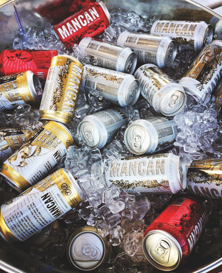 A handful of companies don't even bother with bottles. Cleveland, Ohio-based Mancan offers its California-sourced red, white, sparkling white, and rosé wines exclusively in cans.