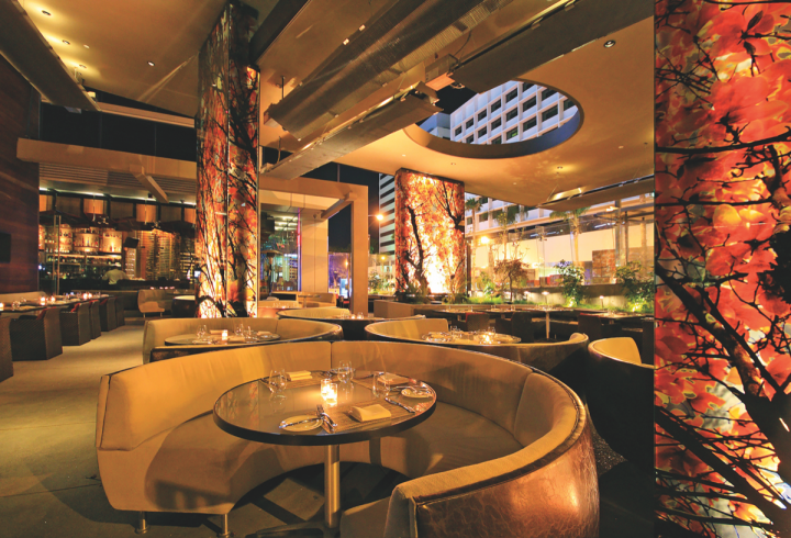 Innovative Dining Group's five-location, Japanese-themed Sushi Roku (interior pictured) incorporates California twists. The venue, which opened in Hollywood, California in 1997, was the company's first restaurant.