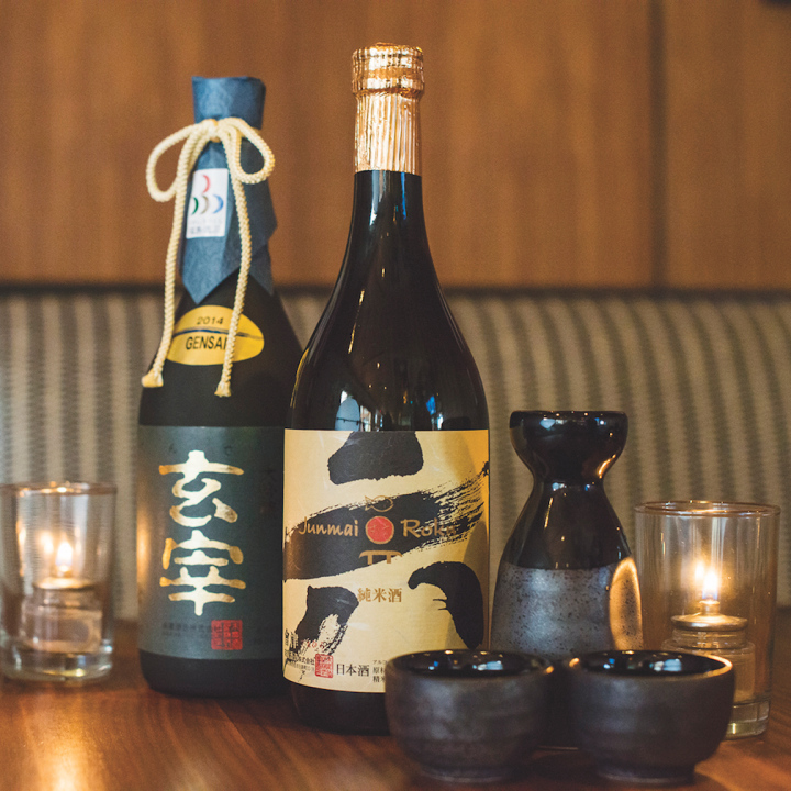 Beverages play an essential role at every Innovative Dining Group venue. At Sushi Roku, the drinks list is comprised of both specialty drinks and an abundance of sakes (pictured) and shochu.
