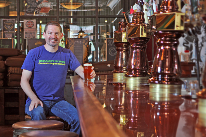 HopCat founder Mark Sellars (pictured above at flagship Grand Rapids, Michigan location) notes that on any given night, 15%-20% of the 14-unit beer bar's guests are from out of town.