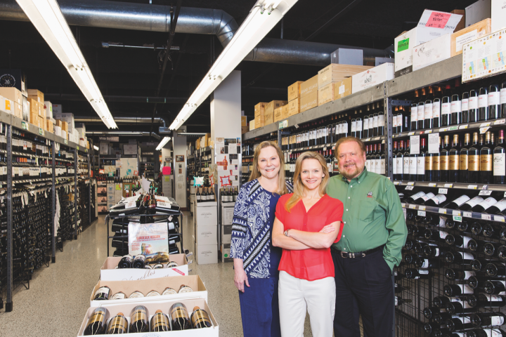 Major Texas-based independent retailers like Spec's Wine, Spirits & Finer Foods (co-owners Lisa, Lindy and John Rydman pictured) are fighting to keep big-box chains like Walmart out of spirits sales. The state currently forbids publicly traded companies from holding liquor licenses.