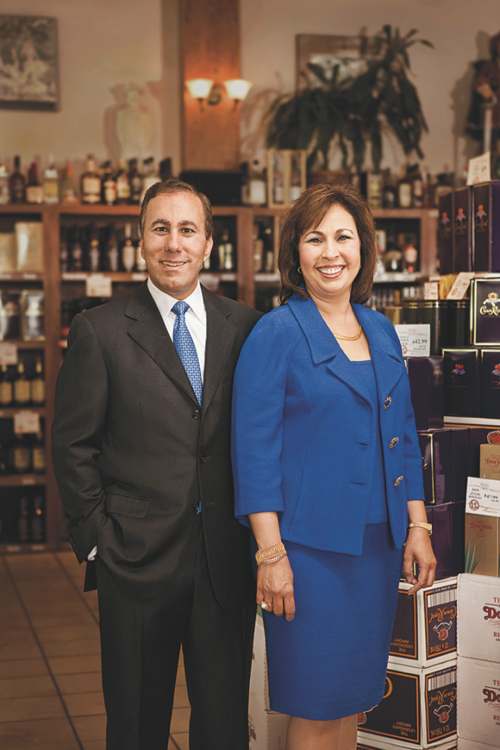 Independent Texas retailers like Twin Liquors (president David Jabour and executive vice president Margaret Jabour pictured) are staying competitive through aggressive expansion.