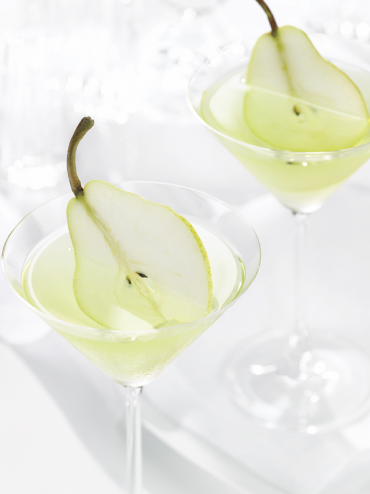 Grey Goose's flavor lineup features the pear-flavored Le Poire (cocktails pictured).