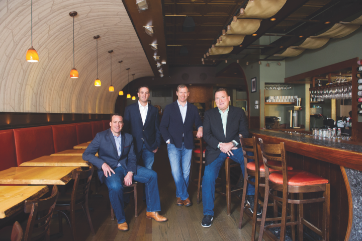 4 Star Restaurant group owners Doug Dunlay, Josh Rutherford, Derek Rettell, and Michael Dunlay operate 12 restaurants across Chicago.