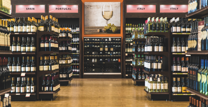Rosé offerings, sparkling wine, Cabernet Sauvignon, and alternative packaging have all contributed to wine sales growth at the Pennsylvania Liquor Control Board's Fine Wine & Good Spirits stores (Glen Mills, Pennsylvania store interior pictured).