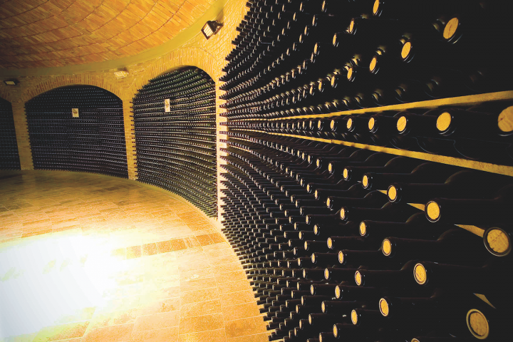 Fourth-generation, family-owned Bodegas Valentin Bianchi (wine cellar pictured) has a long history in the Mendoza region, with founder Don Valentin opening the winery in 1928.