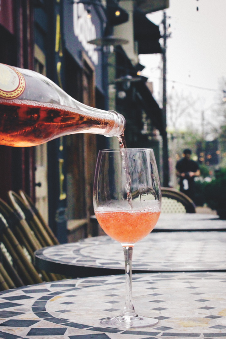 Rosé's popularity in the on-premise (St. Louis-based Brasserie by Niche pictured) can be traced to brands like Château d'Esclans' Whispering Angel.