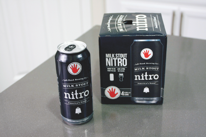 Growth for canned craft beer (canned Left Hand Nitro Milk Stout pictured) has been dramatic in recent years, with dollar sales soaring by 38% in 2017.