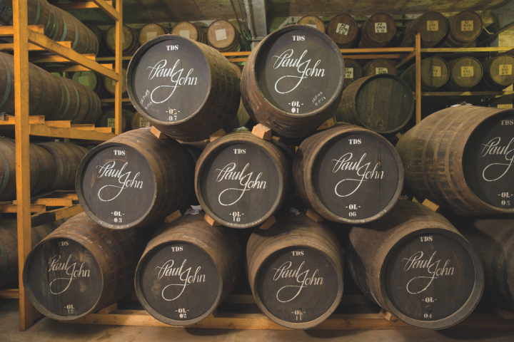 Chicago-based Binny's sells more than 30 world whisky brands, including selections from Japan and India (Paul John Distillery barrels pictured).