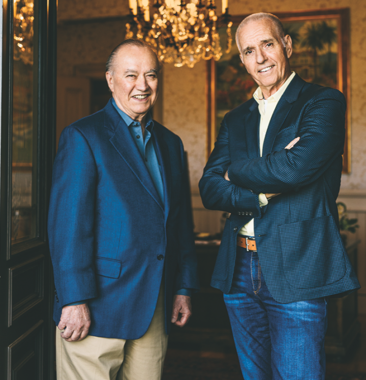 Bob Trinchero (left), who served as the company's winemaker, recently came out of retirement to produce Trincheri vermouth, while his brother, former CEO Roger Trinchero, is chairman of the board.
