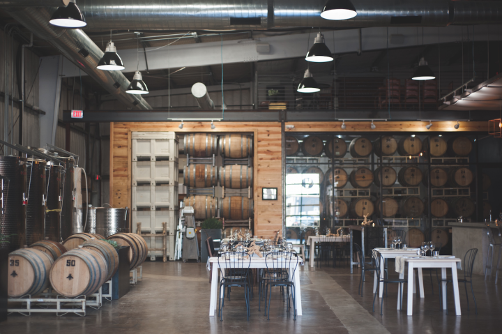 In the capital city of Austin, The Austin Winery (tasting room pictured) has followed the path set by craft brewers to bring new life to the Texas wine industry, including have a local focus.