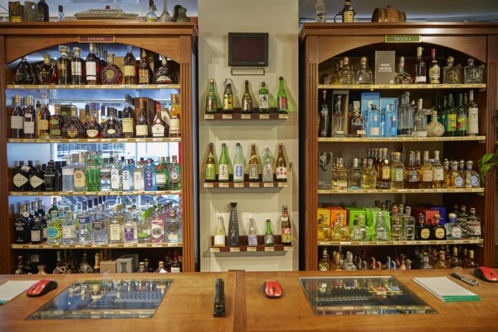 Spirits (checkout display above) make up just 8% of the sales volume at Sherry-Lehmann.