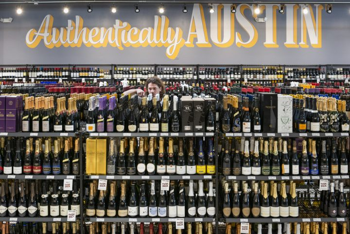 Wines (sparkling labels pictured) in the premium tier are taking off at Twin Liquors stores. Value-priced sparklers, in particular, have grown in prominence and are boosting sales of Champagne and higher-end bubbly brands.