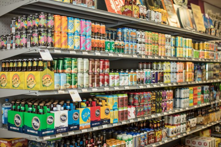 Wine World offers more than 1,500 beer SKUS, with craft beer (shelf pictured) the chain's major beer focus.