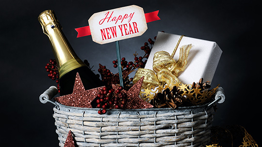 Throughout the holiday season, wine, spirits, and beer gift baskets present golden opportunities for retailers.
