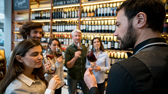 Many retailers, including Premier Wine & Spirits in western New York, offer wine tasting classes for consumers.