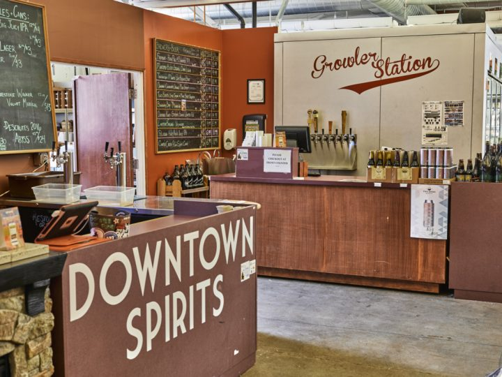Downtown Spirits added a 10-tap growler bar (pictured) to the store in 2013, offering both 32- and 64-ounce sizes generally priced between $10-$18. Senior purchasing manager Terrence Tompkins says the bar has been a great margin builder, especially because some of the best beer is only available on draft.
