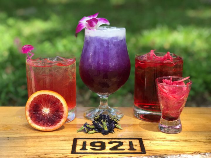 Vodka is seeing a resurrgence in the cocktail world thanks to its neutrality. At 1921 Mount Dora restaurant in Mount Dora, Florida, vodka-based drinks include the Florida Nectar, Velvet Touch, and Rhuby Baby (above).