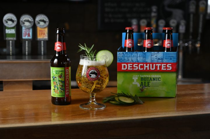 One of the most popular beer cocktails at Deschutes is the Botanic ale and tonic (above), featuring the brewery's 7% abv ale—which was specifically developed to be used in cocktails—and tonic.