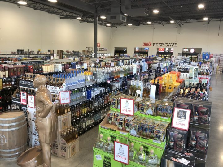 Joe's Beverage Warehouse (interior pictured) in Romeoville, Illinois boasts 2,500 beer SKUs, with a focus on craft brews. Offerings from regional breweries like Phase Three Brewing Co. and 3 Floyds Brewing Co. are popular with customers.