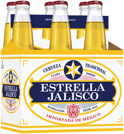 Two Mexican imports from A-B InBev and MillerCoors—Estrella Jalisco (6-pack pictured) and Sol, respectively—were recognized as Hot Brands this year.